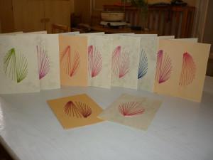 az elkészült húsvéti képeslapok